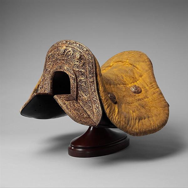 Saddle (Gser Sga), Iron, gold, copper, wood, leather, textile (silk), varnish, Tibetan
