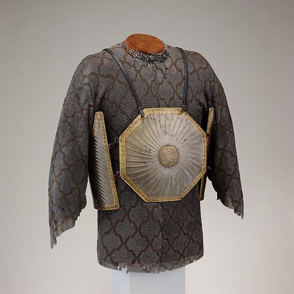 Shirt and Leg Defenses of Mail, Iron, brass, Iranian or Indian