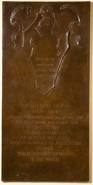 Bashford Dean Memorial Tablet, Daniel Chester French (American, Exeter, New Hampshire 1850–1931 Stockbridge, Massachusetts), Bronze, American, New York