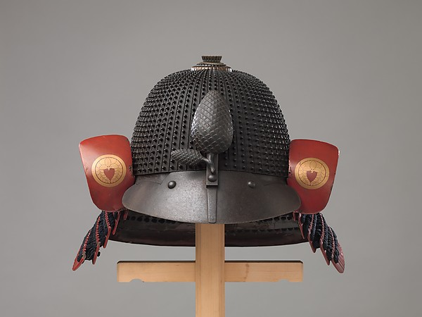 Helmet (Hoshi- Kabuto) in the 16th-Century Style, Inscribed by Saotame Iesuek (Japanese, Miyazaki Prefecture, active late 17th–early 18th century), Iron, lacquer, silk, Japanese