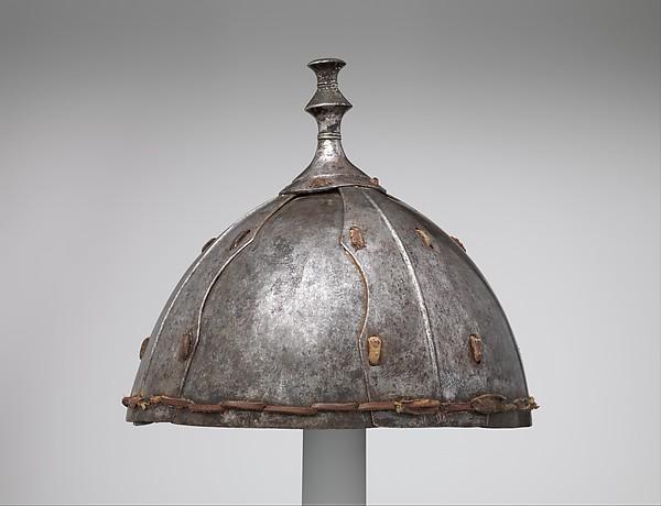 Eight-Plate Helmet, Iron, leather, Tibetan