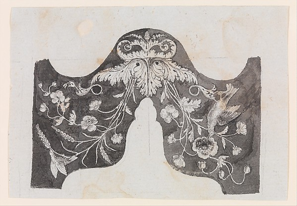 Design for the Decoration of the Surround of the Ramrod Pipe of a Firearm, Workshop of Nicolas Noël Boutet (French, Versailles and Paris, 1761–1833), Pencil, ink, gray wash on paper, French, Versailles
