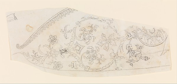 Design for the Decoration of a Gun Stock, Workshop of Nicolas Noël Boutet (French, Versailles and Paris, 1761–1833), Pencil, ink, gray wash on paper, French, Versailles