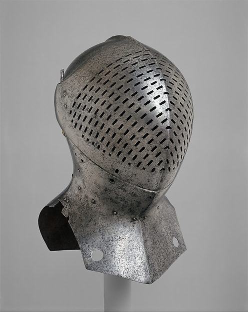 Foot-Combat Helm of Sir Giles Capel (1485–1556), Steel, possibly British