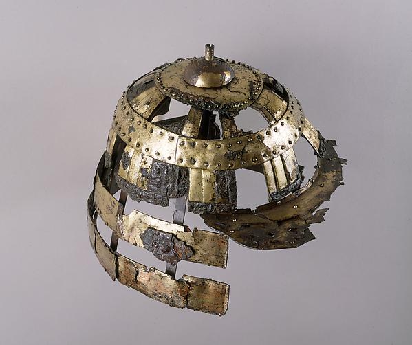 Helmet, Iron, copper, gold, Japanese