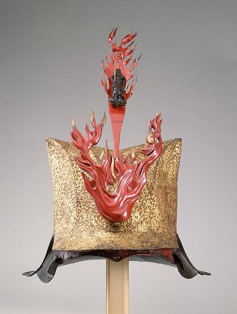 Helmet (Zukinnari Kabuto), Iron, lacquer, Japanese
