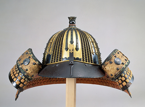 Helmet (Hoshi-Kabuto), Inscribed by Iyehisa of Nara (Japanese, Nara, active 17th century), Iron, lacquer, gilt copper, copper-gold alloy (shakūdo), silver, silk, gilt leather, Japanese