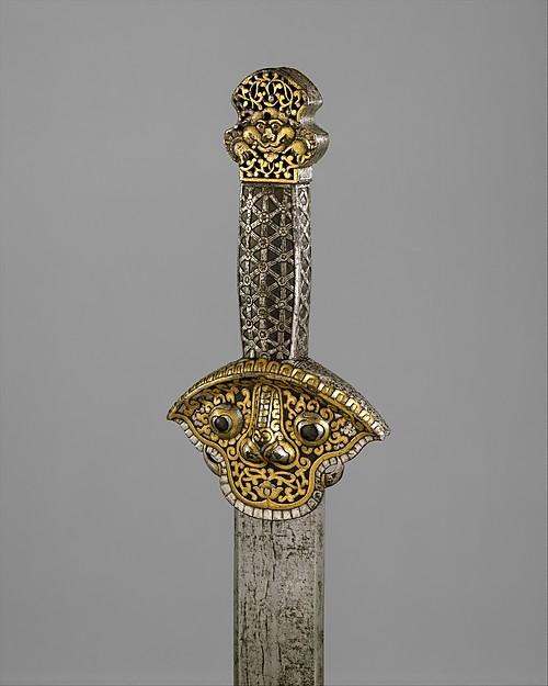 Sword (Ral gri), Iron, steel, gold, silver, Tibetan or Chinese