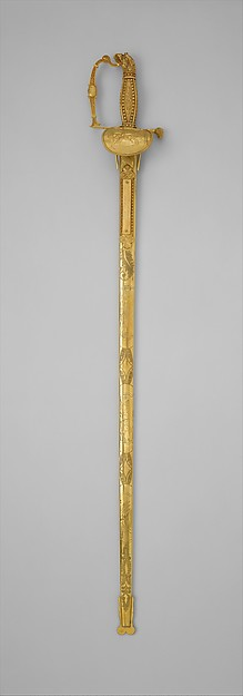 Presentation Sword and Scabbard of Brigadier General Daniel Davis (1777–1814) of the New York Militia, John Targee (American, ca. 1774–1850), Steel, gold, silver, American, New York