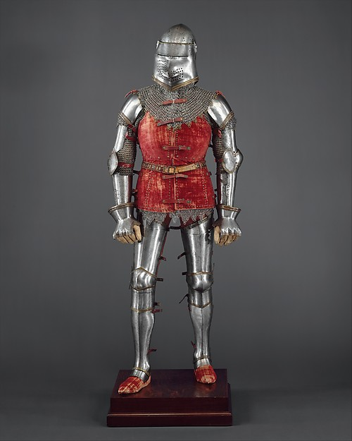 Armor, Steel, copper alloy, textile, leather, Italian