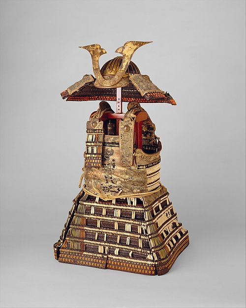 Armor (Yoroi), Iron, leather, lacquer, silk, copper, gold, pigments, Japanese