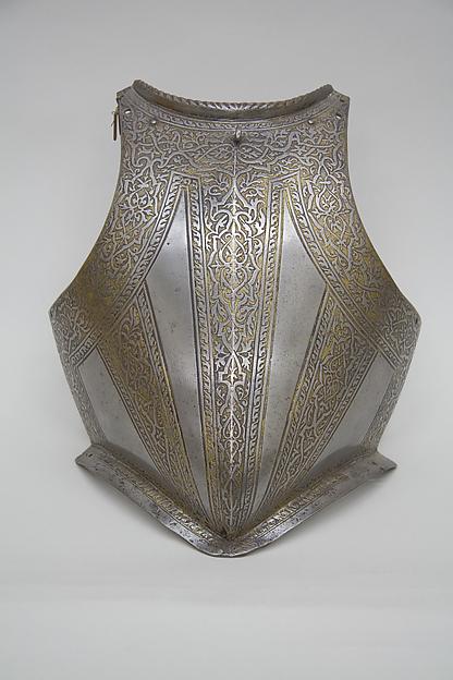 Breastplate from an Armor of Francesco Maria II della Rovere (1548–1631), Duke of Urbino, Steel, gold, Italian, probably Milan