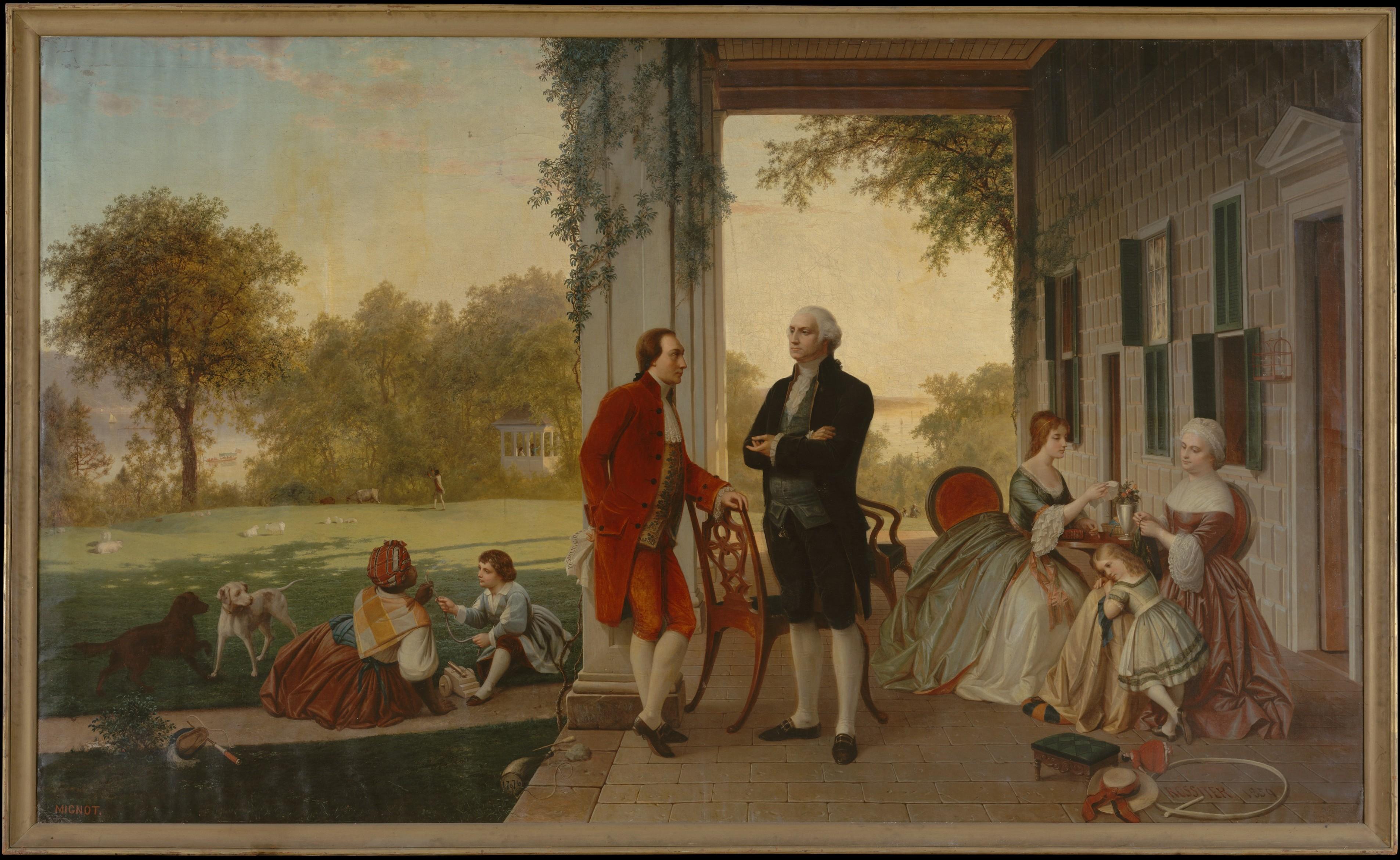 Thomas Pritchard Rossiter Washington And Lafayette At