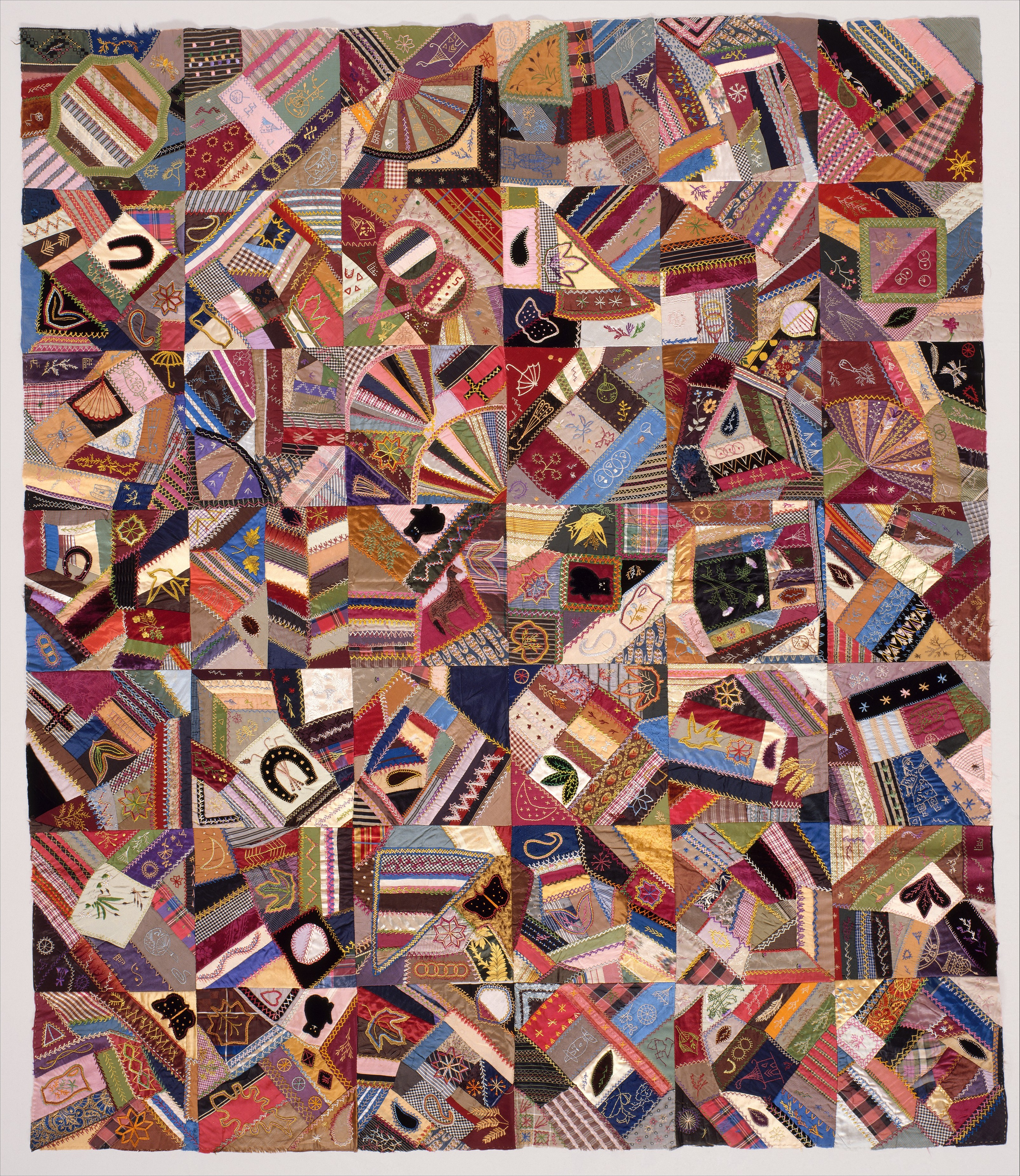 Quilt Top Crazy Pattern American The Met