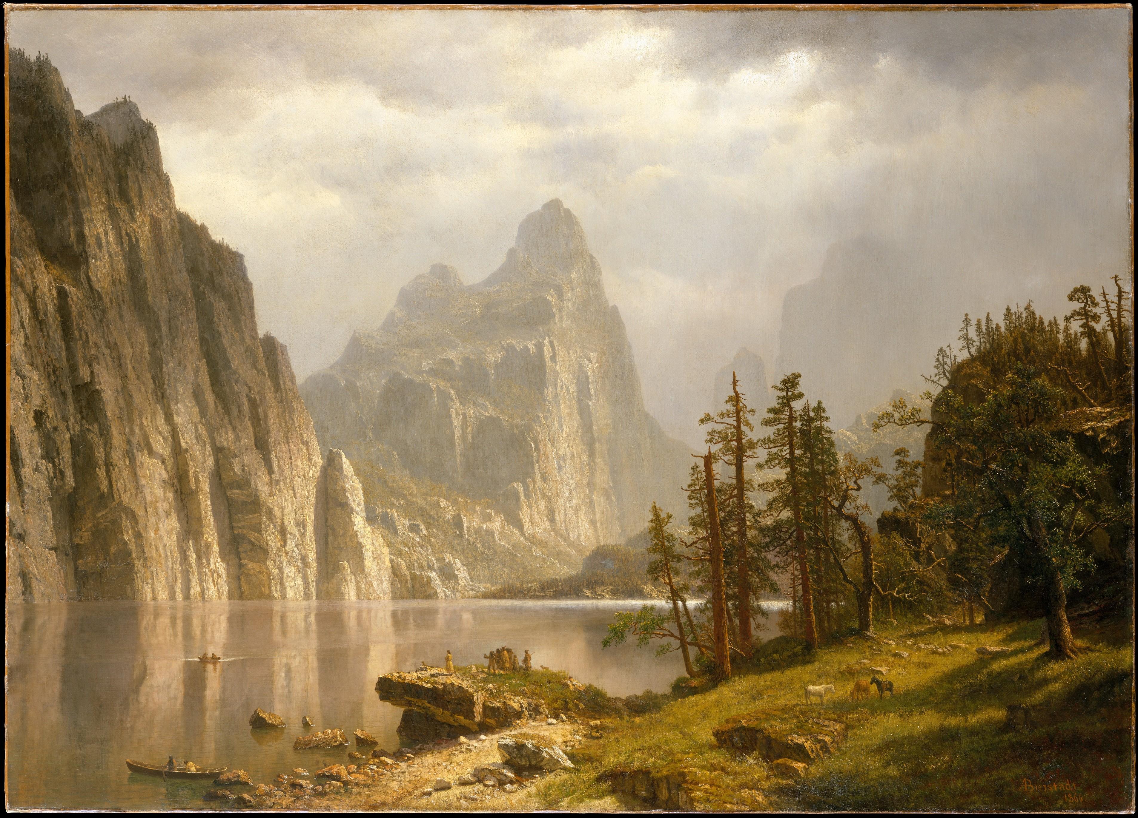 California landscape in art: Albert Bierstadt, Merced River, Yosemite Valley, ca. 1866, The Metropolitan Museum of Arts, New York, NY, USA.