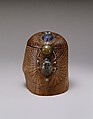 Box, Designed by Louis Comfort Tiffany (American, New York 1848–1933 New York), Wood, glass scarabs, favrile glass, bronze, American