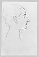 Madame X (Madame Pierre Gautreau), John Singer Sargent (American, Florence 1856–1925 London), Graphite on off-white wove paper, American
