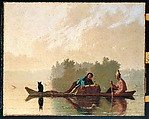 Fur Traders Descending the Missouri, George Caleb Bingham (American, Augusta County, Virginia 1811–1879 Kansas City, Missouri), Oil on canvas, American