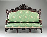 Sofa, Julius Dessoir (1801–1884), Rosewood, replacement showcovers, American
