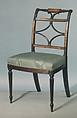 Side Chair, Attributed to Thomas Seymour (1771–1848), Mahogany, birch veneer, birch, tulip poplar, American