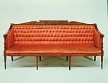 Sofa, Attributed to Samuel McIntire (1757–1811), Mahogany, white pine, birch, American