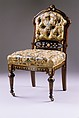 Side chair, Herter Brothers (German, active New York, 1864–1906), Rosewood; gilding, American