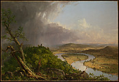 View from Mount Holyoke, Northampton, Massachusetts, after a Thunderstorm—The Oxbow, Thomas Cole (American, Lancashire 1801–1848 Catskill, New York), Oil on canvas, American