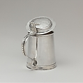 Tankard, Possibly Jacob Marius Groen (American,  Holland 1678 –1750 New York), Silver, American