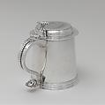 Tankard, Bartholomew Schaats (American, Schenectady, New York ca. 1683–1758 New York), Silver, American