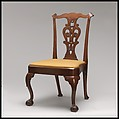 Side Chair, Walnut, white oak, white pine, American