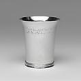 Beaker, Moody Russell (1694–1761), Silver, American