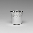 Tumbler, Denis Colombier (active 1776–after 1806), Silver, French