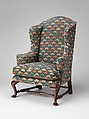 Easy Chair, Caleb Gardner (died 1761), Walnut, maple, American