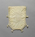 Embroidered Reticule, Martha Kittredge, New England, White cotton thread embroidered on white cotton fabric, American