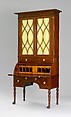 Cylinder Desk and Bookcase, Attributed to Duncan Phyfe (1770–1854), Mahogany, mahogany veneer, satinwood, gilded gesso with yellow poplar, white pine, American
