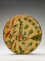Plate, Possibly Heinrich Roth (active ca. 1790–1810), Earthenware; Redware with sgraffito decoration, American