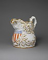 Pitcher, Charles Cartlidge and Company (1848–1856), Porcelain, American