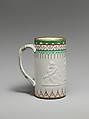 Mug, Designed by Karl L. H. Müller (ca. 1820–1887), Porcelain, American