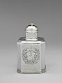 Tea Caddy, Simeon Soumaine (baptized 1685–ca. 1750), Silver, American