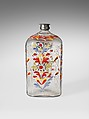 Bottle, Non-lead glass with enamel decoration