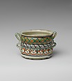 Cup, Tin-glazed earthenware, Mexican