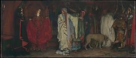 """King Lear,"" Act I, Scene I, Edwin Austin Abbey (American, Philadelphia, Pennsylvania 1852–1911 London), Oil on canvas, American"
