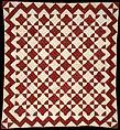 Crib Quilt, Mill Wheel pattern, Cotton, American