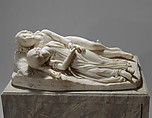 The Babes in the Wood, Thomas Crawford (American, New York 1813?–1857 London), Marble, American