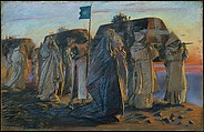 Dirge of the Three Queens, Edwin Austin Abbey (American, Philadelphia, Pennsylvania 1852–1911 London), Pastel on paper, American