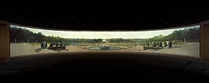 Panoramic View of the Palace and Gardens of Versailles, John Vanderlyn (American, Kingston, New York 1775–1852 Kingston, New York), Oil on canvas, American