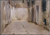 Venice, John Singer Sargent (American, Florence 1856–1925 London), Watercolor and graphite on white wove paper, American
