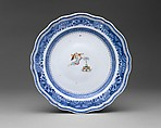 Plate, Hard-paste porcelain, Chinese, for American market