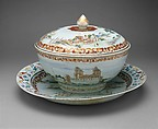 Covered Punch Bowl, Porcelain, Chinese, for Swedish market