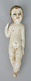Child Jesus (from a nativity), Ivory (or possibly bone?) and wood, polychromed and gilded., Philippine and/or Ecuadoran